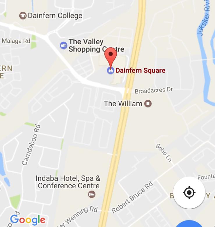 Dainfern Chiro location Google maps